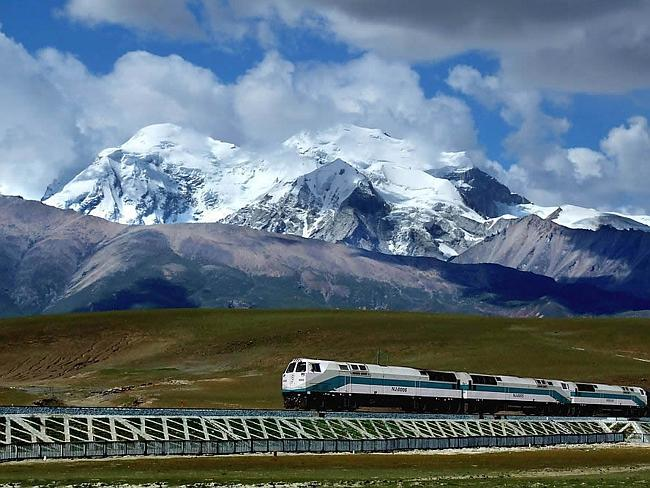 Trans-Siberian Railway crosses untouched by human territories.